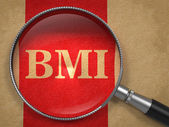 BMI - Magnifying Glass. — Stock Photo