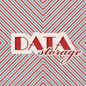 Data Storage Concept on Striped Background. — Stockfoto