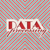 Data Processing Concept on Striped Background. — Stock Photo