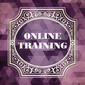 Online Training. Vintage Design Concept. — Stock Photo
