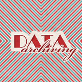 Data Archiving Concept on Striped Background. — Стоковое фото