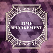 Time Management. Vintage Background. — Stock Photo