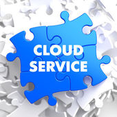 Cloud Service on Blue Puzzle. — Stock Photo