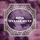 Risk Management. Vintage Background. — Stock Photo