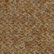 Rusty Metal Diamond Plate. Seamless Texture. — Stock Photo