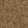 Rusty Metal Diamond Plate. Seamless Texture. — 图库照片