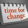 Time for Change - Red Word on Desktop Calendar. — Stock Photo #42957381