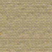 Beige Brick Wall. Seamless Tileable Texture. — Stock Photo