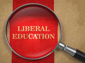 Liberal Education Concept - Magnifying Glass. — Stock Photo