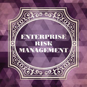 Enterprise Risk Management. Vintage Concept. — Stock Photo
