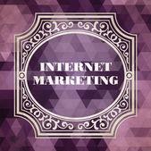 Marketing en internet. concepto vintage. — Foto de Stock