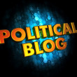 Political Blog Concept on Digital Background. — Stock Photo