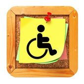 Disabled Concept - Sticker on Message Board. — Stock Photo