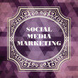 Social-Media-marketing-Konzept. Vintage-design — Stockfoto #43774187