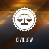 Civil Law Concept on Triangle Background. — Stock Photo