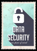 Data Security on Blue in Flat Design. — Stock Photo