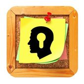 Psychological Concept - Sticker on Message Board. — Stock Photo