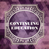 Continuing Education Concept. Vintage design. — Stock Photo