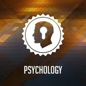 Psychological Concept on Triangle Background. — Stock Photo