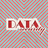 Data Security Concept on Striped Background. — Stock Photo