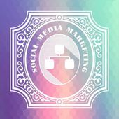 Social Media Marketing. Pastels Vintage Design Concept. — Stock Photo