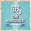 Time Management Concept in Flat Design. — Stock fotografie