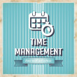 Time Management Concept in Flat Design. — Foto Stock