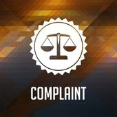 Complaint Concept on Triangle Background. — Stock Photo