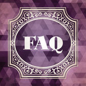 FAQ Concept. Vintage design. — Stock Photo