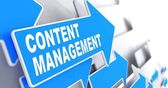 Content Management on Blue Arrow. — Stock Photo