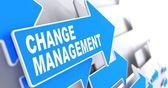 Change Management on Blue Arrow. — Stock Photo