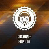 Customer Support on Triangle Background. — Stock Photo
