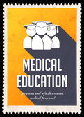 Medical Education on Yellow in Flat Design. — Stock Photo
