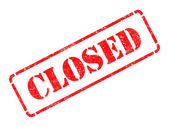 Closed  -  Red Rubber Stamp. — Stock Photo