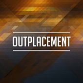 Outplacement Concept on Retro Triangle Background. — Stock Photo