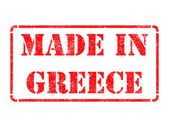 Made in Greece - inscription on Red Rubber Stamp. — Foto Stock