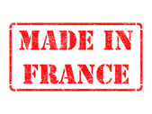 Made in France - inscription on Red Rubber Stamp. — Foto Stock