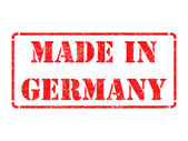 Made in Germany- inscription on Red Rubber Stamp. — Foto Stock