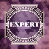 Expert Concept. Purple Vintage design. — Stockfoto