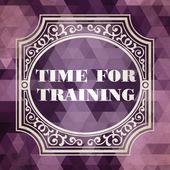 Time for Training Concept. Purple Vintage design. — Stock Photo