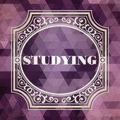 Studying Concept. Purple Vintage design. — Stock Photo