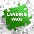 Landing Page on Green Puzzle. — Stock Photo #45468021