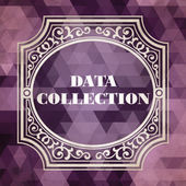 Data Collection Concept. Vintage design. — Stock Photo