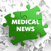 Medical News on Multicolor Puzzle. — Stock Photo