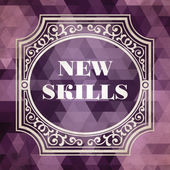 New Skills Concept. Vintage design. — Stock Photo
