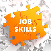 Job Skills on Orange Puzzle. — Stock Photo