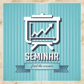 Seminar Concept on Blue in Flat Design. — Stock Photo