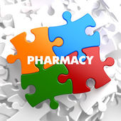 Pharmacy on Multicolor Puzzle. — Foto de Stock