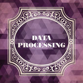Data Processing. Vintage design. — Stock Photo