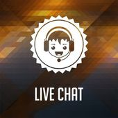 Live Chat. Retro label design. — Stock Photo